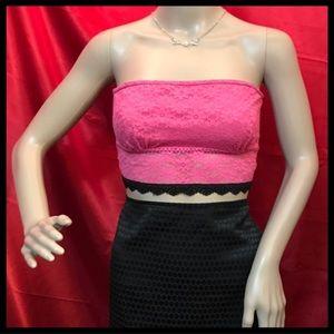 Pink Flirtitude Lace Band Bra